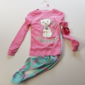 Other - Girl's Size 4 Extremely Me Cat Kitten PJ Set Long